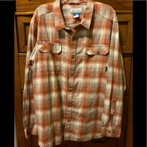 Columbia sportswear Texas Longhorns  flannel shirt